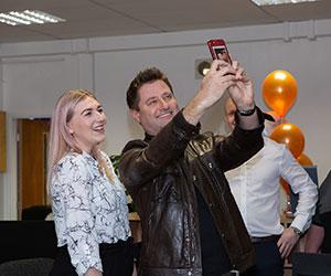 George Clarke selfies