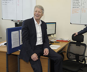 Nick Ross visits HICS offices